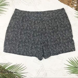KAARI Blue Black & White Print Shorts